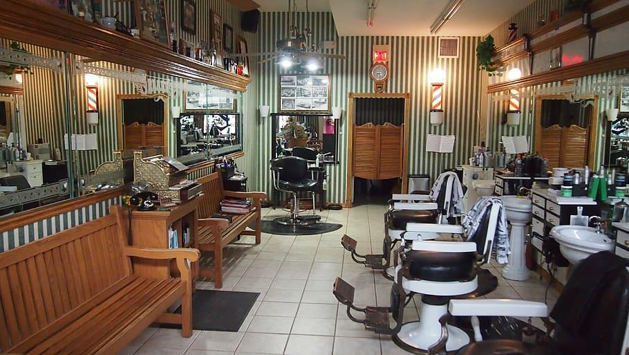 Een mancave in de barbershop: Yeah!